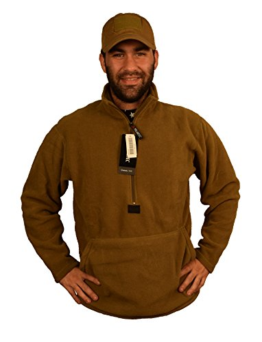 Polartec Fleece Pullover, Coyote Brown, USMC Issue, Made in USA (Large)