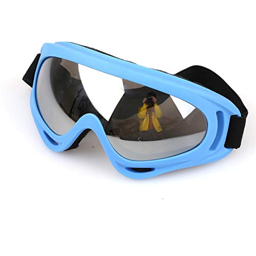 N\A Gafas de Snowboard de esquí Color Profesional Nieve a Prueba de Viento x400 UV ProtectionOutdoor Deportes Anti-Niebla Gafas de esquí Snowboard Skate Skiing Gafas (Color : Blue Silver)