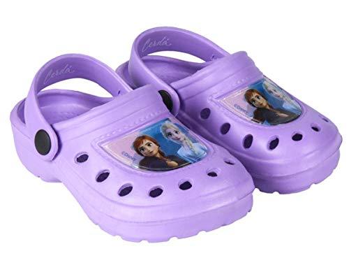 Sabots - Crocs Enfant Fille La Reine des neiges Violet et Bleu du 22 au 29 (Violet, Numeric_22)