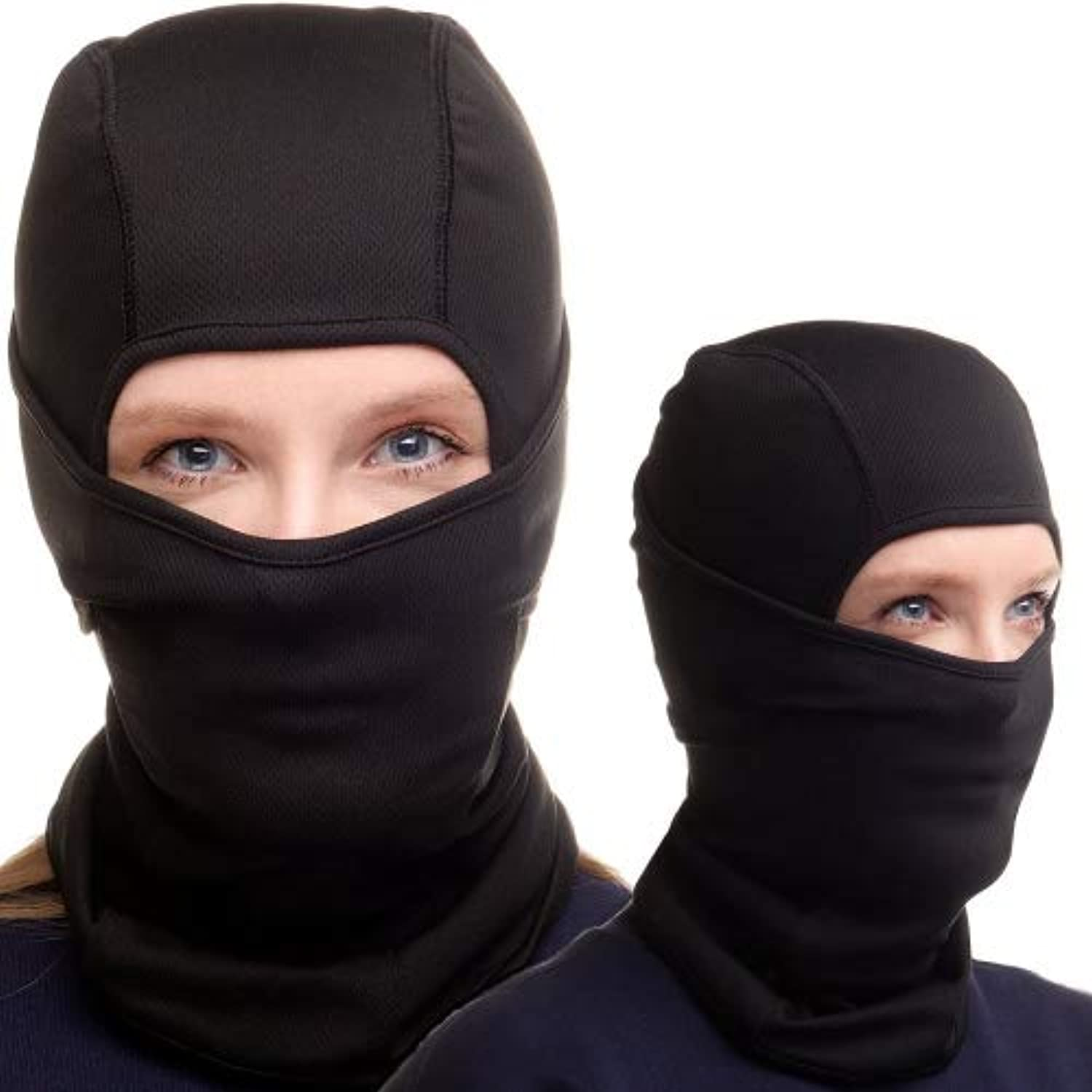 Proven Platinum Black Balaclava - Face Mask for Ski and Snowboard - For Women and Men + Free Gift