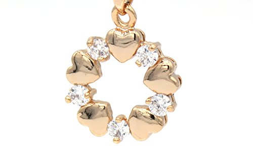 Bamoer dameshalsketting van 18 karaat goud verguld met zirkoon kristal hart