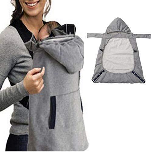 Baby Träger mit Taschen Cloak Windundurchlässig Wasserdichte Abdeckung Wrap im Freien Unerlässlich Casual Umhang Hoodie Universal All Season Carrier Cover