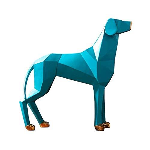 LOSAYM Esculturas Escultura Decoración Estatuas Figuritas Escultura De Perro De Origami Decoración del Hogar Sala De Estar Adornos De Gabinete De TV