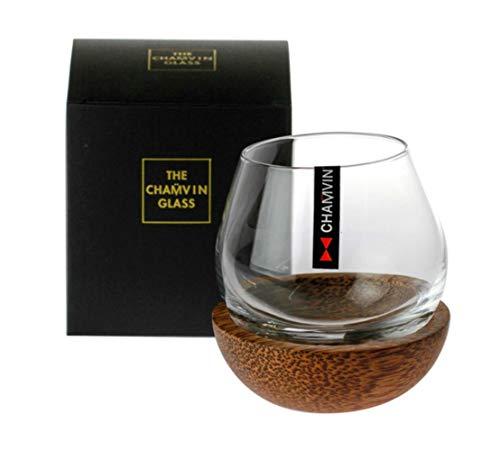 Rollo lento Esférico Whisky Rock Coincidencia de vidrio Paleta de madera Diseño Roly-poly Sabor Copas de brandy creativas Soporte para vaso de whisky