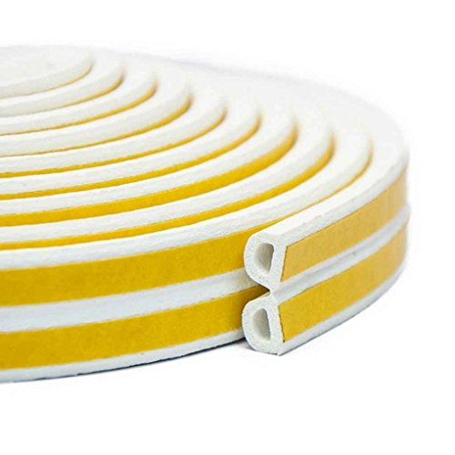 Floridivy Indoor tochtstrips Window Seal Strip weatherstrip kloof Deuren Windows Geluidsisolatie Afdichting Gap Blocker D Type