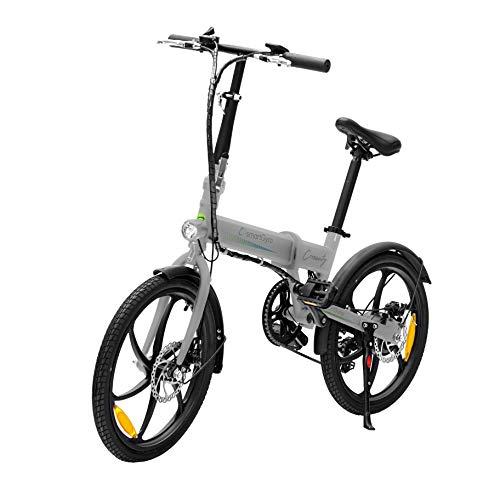 """SmartGyro Ebike Crosscity Silver – Bicicletta elettrica Urbana, ruote da 20\"""", pedalata assistita, batteria rimovibile al litio da 36 V da 4,4 mAh, freno a disco, 6 velocità, autonomia 30 – 50 km"""