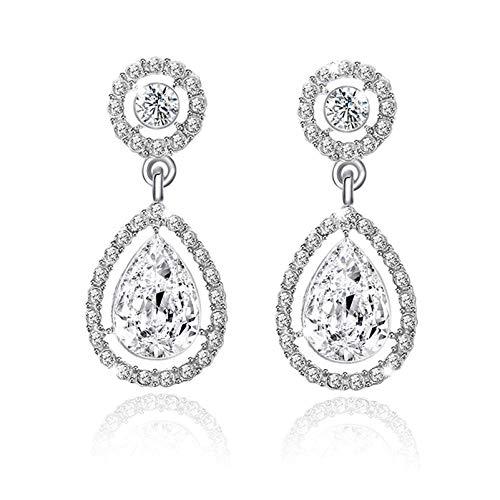 Erin Earring Damen Neoklassizistischen Stil Mode Kristall Lange Ohrringe Tropfwasser Zirkonium Hochzeit Ohrringe Schmuck Weiblich E0252