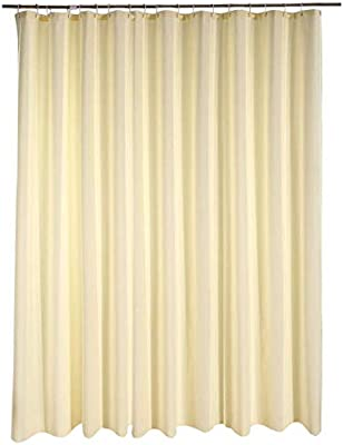 lanshe) Home Fashion Waffle Shower Curtain for Hotel, Waterproof Bathroom Curtain Durable Fabric, Extra Long 72Inch by 78Inch (Beige, 72Inchx78Inch)
