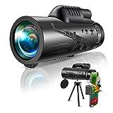 Everenty - Telescopio Monoculare, 40 x 60 Zoom HD Telescopio con Smartphone...