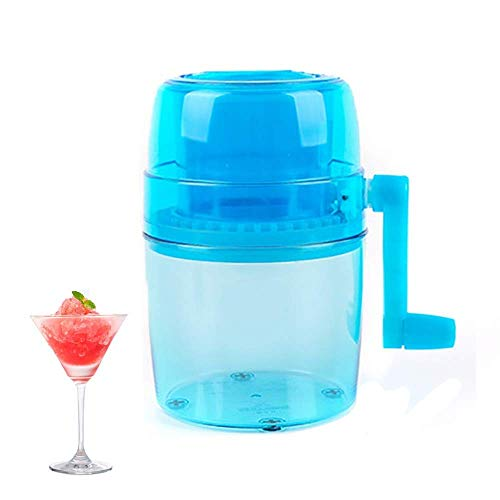 Ice blender Ice Crusher Household Handhold Manual Hand Shaved Ice Machine for Shaved Ice Snow Cones Slushies,Made of Ecofriendly Healthy ABS Material,Wide Range of Applications best gift