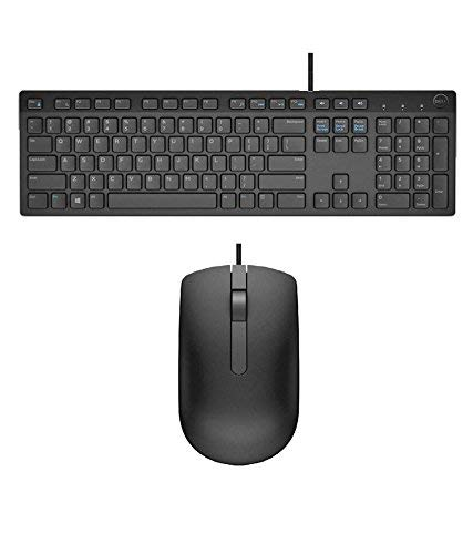 USB Keyboard KB216 + Mouse MS116 Combos Compatible with Dell