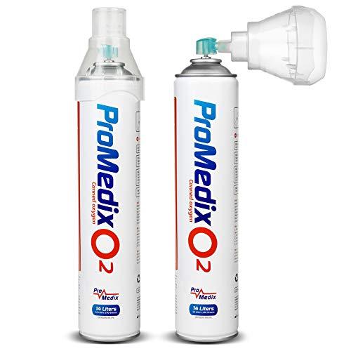 Promedix PR-994 Inhalación de oxígeno 99.4% Pure O2 Boquilla Deportiva Comoda 14l Bienestar Deporte