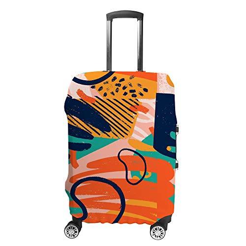 Maleta protectora de equipaje de viaje, bolsa de equipaje lavable, de seguridad, pintura abstracta, viajes, negocios, niños, hombres y mujeres, se adapta a equipaje de 18 a 32 pulgadas