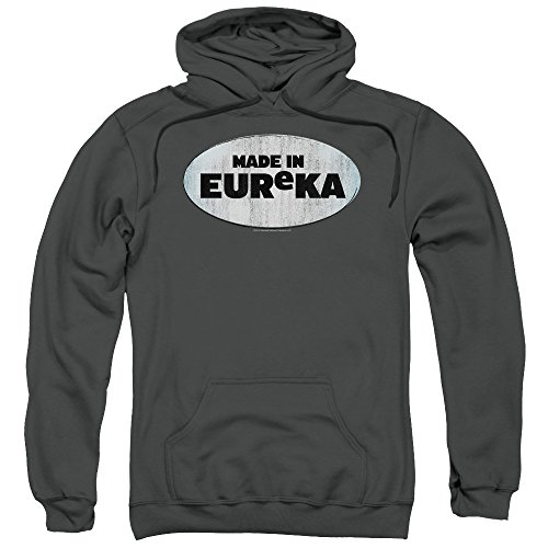 Eureka Made in Eureka Unisex Adult Pull-Over Hoodie for Men and Women, Medium Charcoal