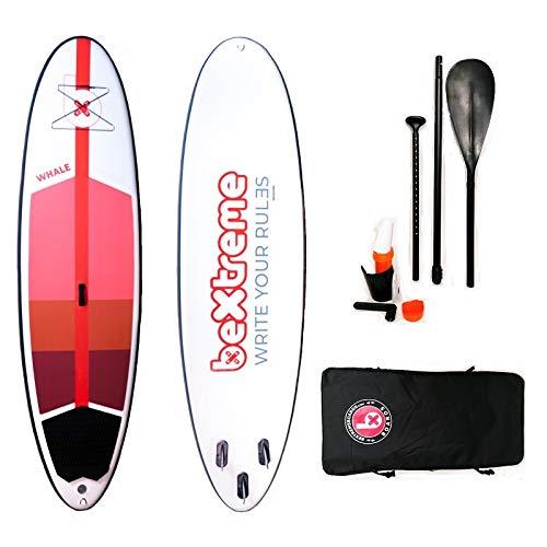 Tabla Paddle Surf Hinchable BeXtreme Whale. Tabla Sup Hinchable Unisex Stand up Paddle Surf Kit con Remo, Mochila y reparación. Medidas 10,5'x34 x6 para Hombre y Mujer