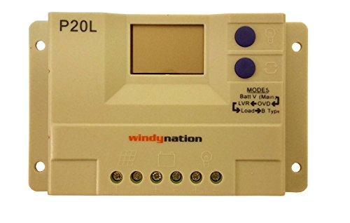 WindyNation P30L LCD 30A PWM Solar Panel Regulator...