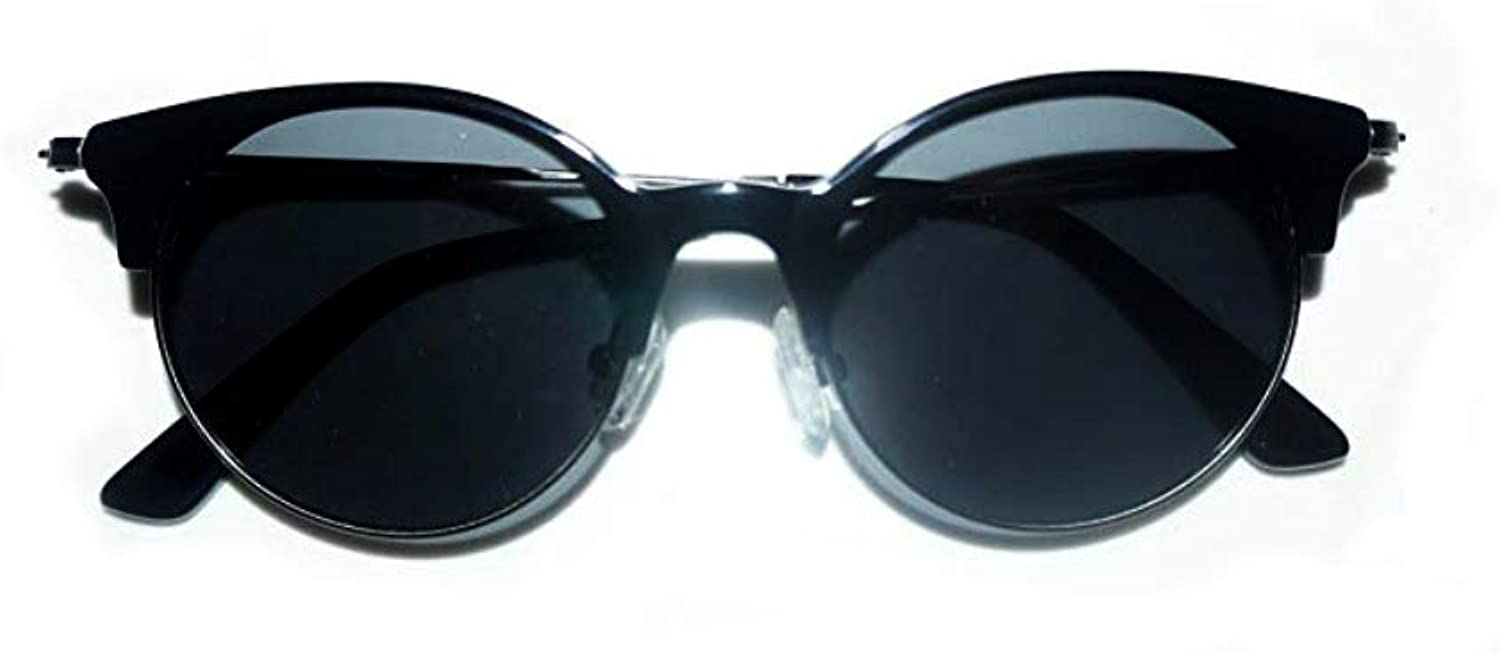 Cat Eye Clubmaster Round Vintage Inspired Retro Black Sunglasses UV400 Predection by Eshne