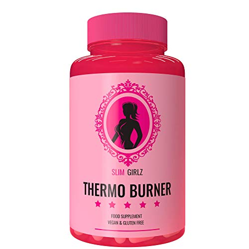 Slim Girlz Thermo Burner   Thermo Burner Pills for Women   Protects Lean Muscle   Metabolism Booster  11 Active Ingredients   No Synthetics   Natural Pills   Made in EU   90 Vegan Capsules