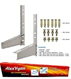 AlexVyan Special Coated Super Quality Split Ac Air Conditioner Outdoor Unit Wall Mounting Bracket Stand for 1 Ton, 1.1 Ton, 1.2 Ton, 1.5 Ton, 2 Ton Outdoor Units (Pack of 2)
