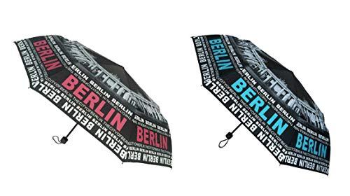 Regenschirm The City of Berlin Blau/Schwarz