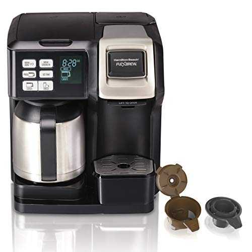 Hamilton Beach FlexBrew Thermal Coffee Maker, Single Serve & Full Pot, Compatible...