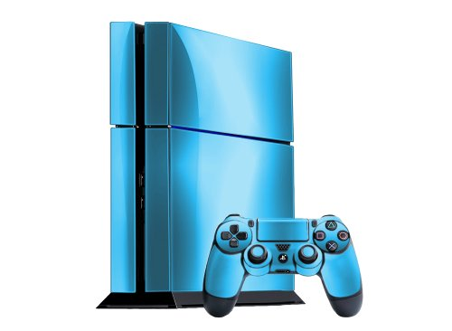 Sky Chrome Mirror Vinyl Decal Faceplate Mod Skin Kit for Sony PlayStation 4 (PS4) Console by System Skins