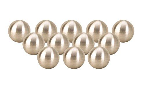 Geschenkestadl 12 x Dekokugel in Silber matt ca. Ø 4 cm Kugel Edelstahl Rosenkugel Garten Weihnachten