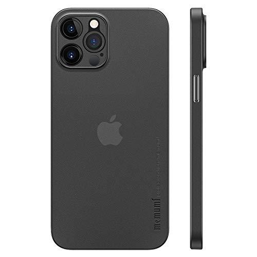 memumi Cover per iPhone 12 PRO, Spessore 0,3 mm, vestibilità Slim, Finitura Opaca [Antiurto, Antiscivolo, AntiGraffio] Cover Protettiva Rigida Extra Sottile per iPhone 12 PRO-Trans-Black (6.1, 2020)