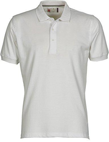 Payper Polo Homme Venice Coton Taille s à 5XL Manches Courtes col 3 Boutons - Blanc - L
