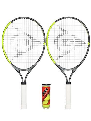 Dunlop 2 x CV Team Junior Raquetas de tenis (19', 21' 23' y...