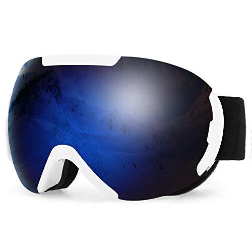 Skibril, dames, winter, OTG, skibril, anti-condens, UV-bescherming, dubbele lens, sneeuwbril, snowboard, skibril, voor mannen en vrouwen