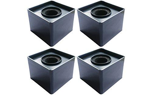 Actopus 4pcs Black Microphone Cube Interview Square Mic Flag Studio Equipment