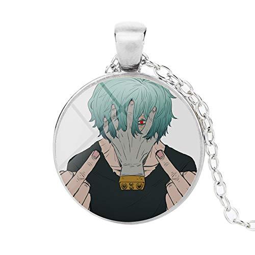 Ailin Online My Hero Academia Halskette, japanischer Anime-Anhänger aus MHA-Glas für Damen und Herren (Shigaraki Tomura)