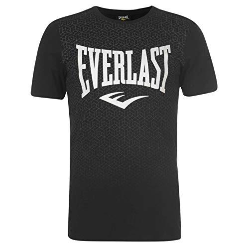 Everlast Herren Geo Print T Shirt Rundhals Baumwolle Kurzarm Schwarz XXL
