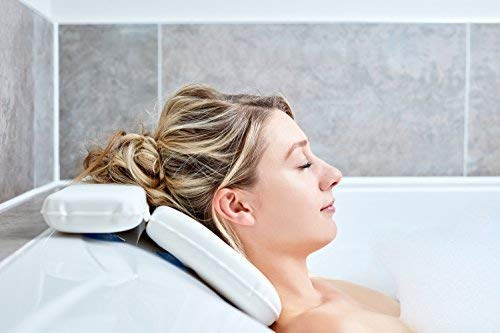 Cushion for Bath - Best Pillows for Bathtub for Head and Neck with The 7 Suction Cups - Luxury Cushion Support for The Complete Rear