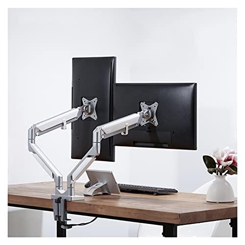 Soporte de montaje del monitor Soporte de monitor de monitor de brazo oscilante soporte de montaje de escritorio de monitor de doble monitor con soporte de monitor de interfaz USB con c-abrazadera y b