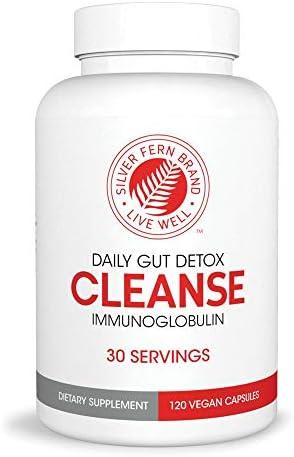 Cleanse Daily Gut Detox 1 Bottle 120 Capsules 30 Day Supply Immunoglobulin G A M IgG IGA IgM product image