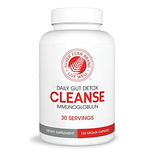Cleanse - Daily Gut Detox - 1 Bottle - 120 Capsules - 30 Day Supply - Immunoglobulin G, A & M -(IgG, IGA, IgM) - Digestive System Detoxificaton & Immune System Booster - Postbiotic