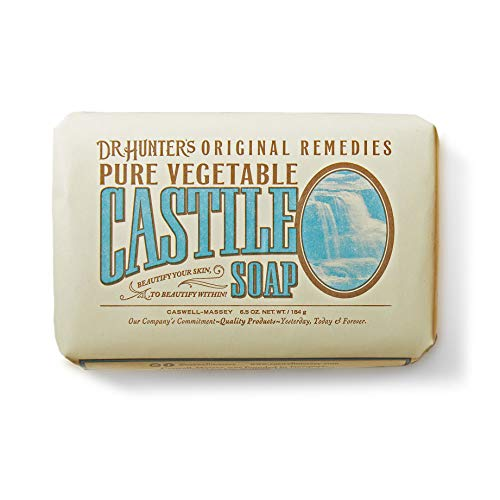 Caswell-Massey Dr. Hunter's Pure Castile Soap – Natural Olive Oil Bath Soap with Jojoba and Cocoa Seed Butter for Body, Hair & Face - Gentle and Moisturizing, Cruelty-free – 6.5 Ounces