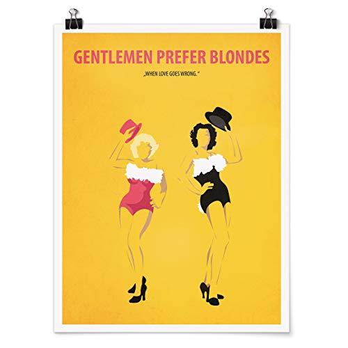 Bilderwelten Poster - Locandina Uomini preferiscono Le Bionde Carta Adesiva 80x60cm
