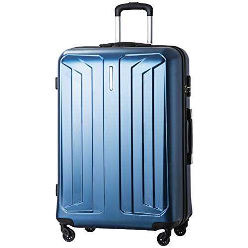 MERAX Suitcase Lightweight Hard Shell Luggage Travel Bag 4 Wheels 2 Years Warranty 20/24/28 (28', Blue)