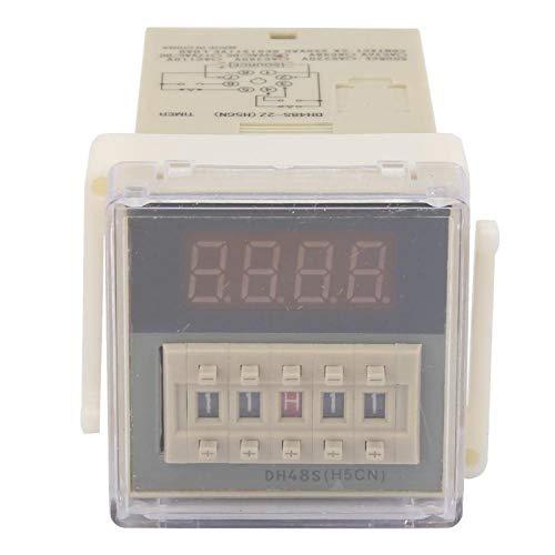O111ROM DH48S-2Z Pantalla LCD Temporizador de tiempo Relé de retardo 8 pines 0.01S-9999H Se utiliza para vallas publicitarias al aire libre, talleres de fábrica, lámparas de(12VAC/DC)