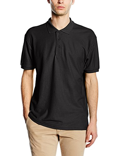Fruit of the Loom Herren 65/35 Poloshirt, Schwarz, XXXL