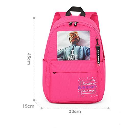 MNBVCX Spring/Summer Shoulder Schoolbag Korean Student Fashion Campus 30X15X45Cm