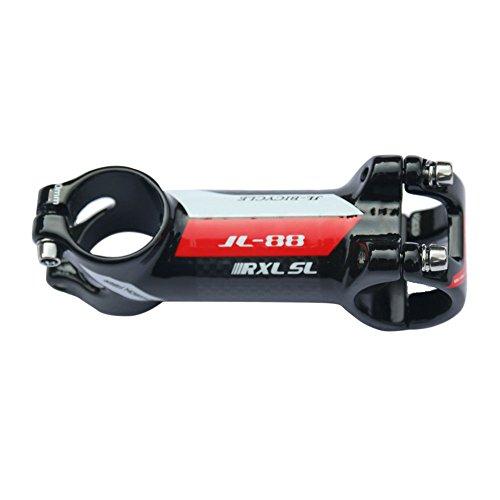 RXL SL Aluminum Alloy + Carbon Red 31.8mm Stem 100mm Bike Stem Mountain Bike Stem Riser Handlebar Stem for Road Bike, MTB, BMX, Fixie Gear, Cycling
