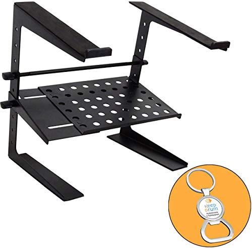 Keepdrum HA-LS20 Laptopstandaard in hoogte verstelbaar met legplank + Keepdrum flesopener