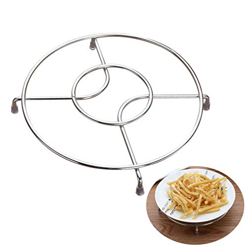 Cabilock 1pc Dampfzahnrad Edelstahl Haushalt Multi-Funktions-Garblech Dampfer Korb für Kochen Küche Crock Pots Chef