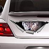 BYRON HOYLE Wolf Auto-Aufkleber, Wolf-Aufkleber, schicker 3D-Tier-Aufkleber, Hunde-Aufkleber, Vinyl-Aufkleber, Auto-Aufkleber, lustiger Aufkleber, Laptop-Aufkleber für Auto, LKW, Fenster, Badezimmer