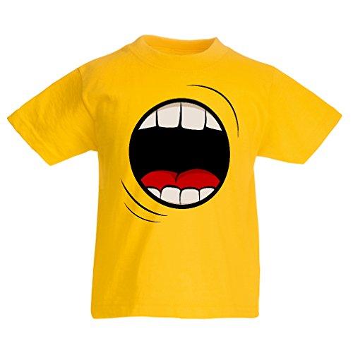 N4333K La Camiseta de los niños El Grito (7-8 Years Amarillo Multicolor)
