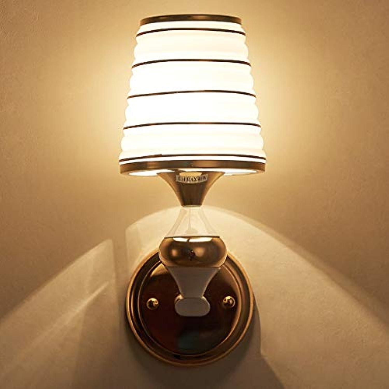 GFF Wandleuchte Schlafzimmer Einfache Nachttischlampe Wohnzimmer Hotel Hochzeitszimmer Kreative LED Energiesparlampen Ganglichter